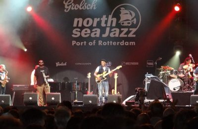 Marcus Miller performing at the North Sea Jazz Festival in Rotterdam